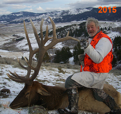 Hunter with his elk